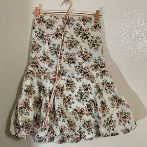 Tracy Feith | Floral Sweetheart Tie Halter Dress